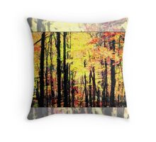 Fall Tree Line - Red/Yellow Throw Pillow