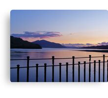Eilean Donan Castle - Inside Sunset Canvas Print
