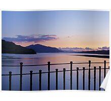 Eilean Donan Castle - Inside Sunset Poster