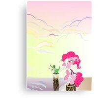 Karate Pie with BG Canvas Print