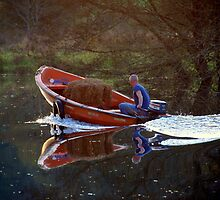 Quiet river. by Jean-Luc Rollier