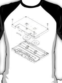 Exploded Cassette Tape  T-Shirt