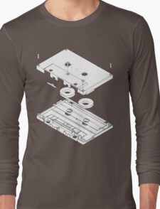 Exploded Cassette Tape  Long Sleeve T-Shirt