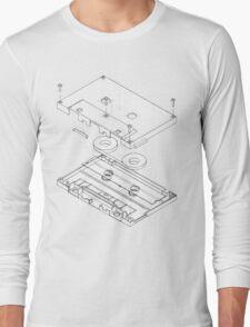 Exploded Cassette Tape  Long Sleeve T-Shirt