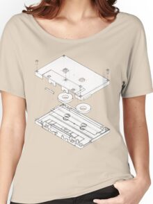 Exploded Cassette Tape  Women's Relaxed Fit T-Shirt