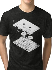 Exploded Cassette Tape  Tri-blend T-Shirt