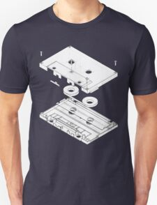Exploded Cassette Tape  T-Shirt