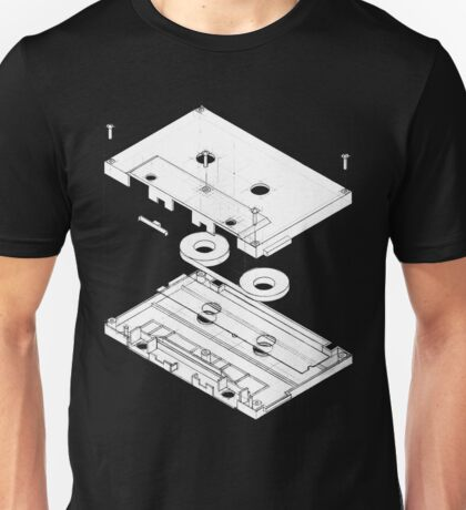 Exploded Cassette Tape  Unisex T-Shirt