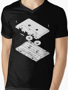 Exploded Cassette Tape  Mens V-Neck T-Shirt