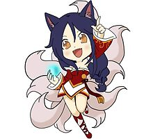 Ahri League of Legends (chibi) by eucliffe