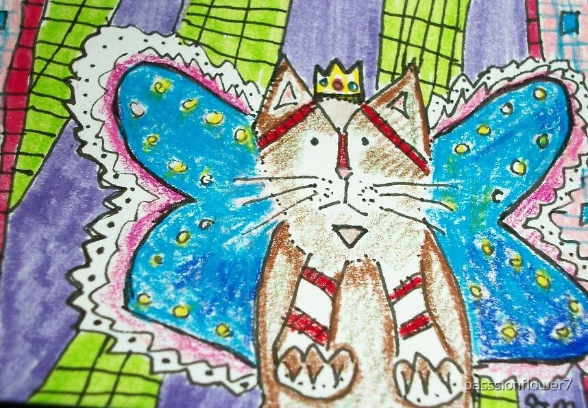 King of the cat fairys aceo  by passsionflower7