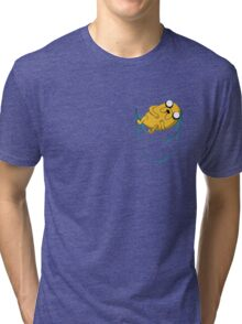 Adventure Time: Jake in Pocket Tri-blend T-Shirt