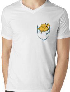 Adventure Time: Jake in Pocket Mens V-Neck T-Shirt