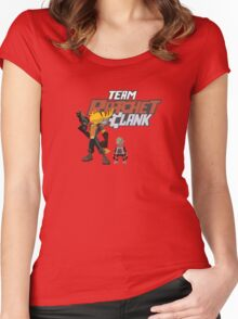 Team Ratchet & Clank Women's Fitted Scoop T-Shirt