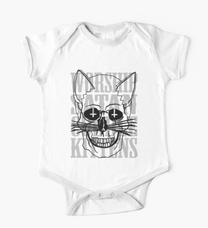 Worship Satan, Cuddle Kittens. One Piece - Short Sleeve