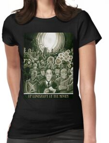 HP Lovecraft At The Movies Womens Fitted T-Shirt