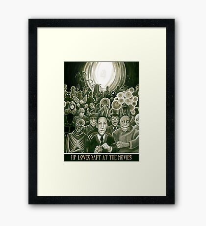 HP Lovecraft At The Movies Framed Print