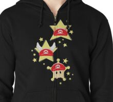 Super Mario Hats Zipped Hoodie