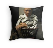 Pablo Picasso, Madame Tussauds NYC Throw Pillow