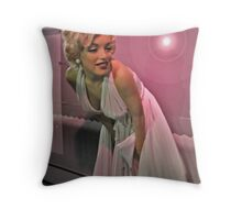 Marilyn, So Pretty in Pink, Madame Tussauds NYC Throw Pillow