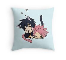 Natsu and Gray (chibi) Throw Pillow