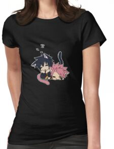 Natsu and Gray (chibi) Womens Fitted T-Shirt