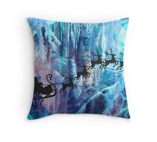 SANTA FROM THE DEPTHS OF THE NORTH POLE Throw Pillow