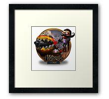 Corki Hot Rod - League of Legends Framed Print