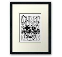 Worship Satan, Cuddle Kittens. Framed Print