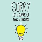 Sorry If I Gave You The Wrong Idea by Simon Greening
