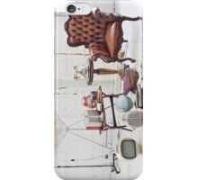 retro furniture and decoration in white room iPhone Case/Skin