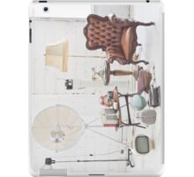 retro furniture and decoration in white room iPad Case/Skin