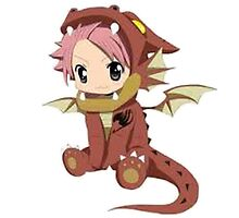Natsu Dragneel (chibi) by eucliffe