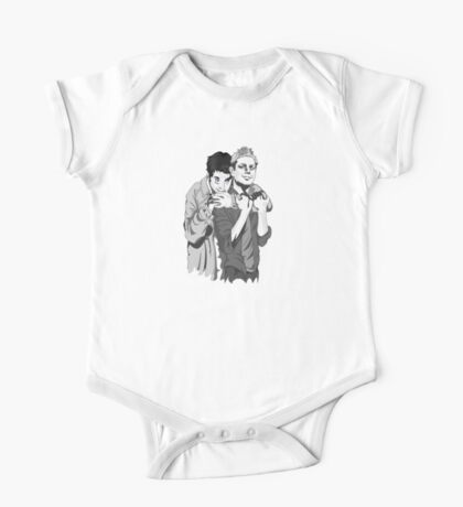Destiel Hug b/w One Piece - Short Sleeve