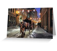 Christmas in Old Montreal Greeting Card