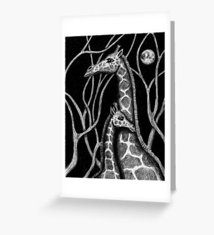 Giraffe colored pencils drawing Greeting Card