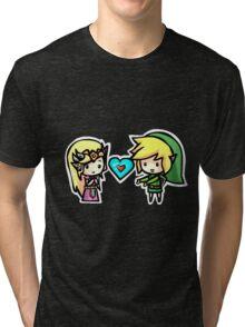 Link and Zelda Tri-blend T-Shirt