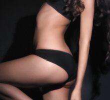 Female figure in black lingerie Sticker