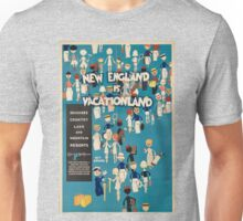 Vintage poster - New England Unisex T-Shirt