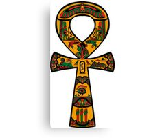 Ankh Detailed RBG Canvas Print