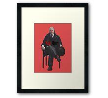 Raymond 'Red' Reddington - Red Alert Print Framed Print