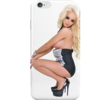 Sexy stunning blond girl with amazing body iPhone Case/Skin
