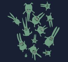 bunnies in weightlessness One Piece - Long Sleeve
