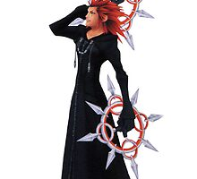 axel kingdom hearts 2, ipod case by 10naruto23