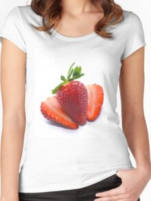 Delicious Strawberries  Women's Fitted Scoop T-Shirt