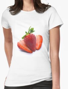 Delicious Strawberries  Womens Fitted T-Shirt