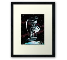 Lady Surfer Framed Print