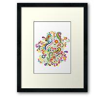 FlowerPower - White Framed Print