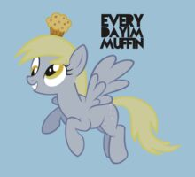 Everyday I'm Muffin Derpy Hooves  Kids Tee