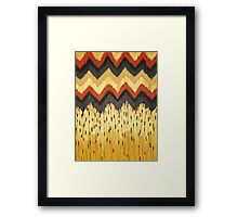 SHINE ON - Gold Glam Chevron Colorful Abstract Acrylic Pattern Painting Modern Home Decor Fine Art Framed Print